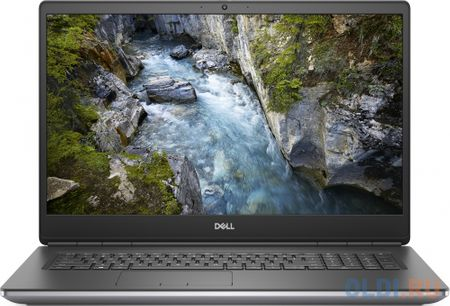 "Ноутбук Dell Precision 7750 Core i7 10850H/16Gb/SSD512Gb/NVIDIA Quadro RTX 4000 8Gb/17.3""/WVA/FHD (1920x1080)/Windows 10 Professional 64/grey/WiFi/BT/Cam"