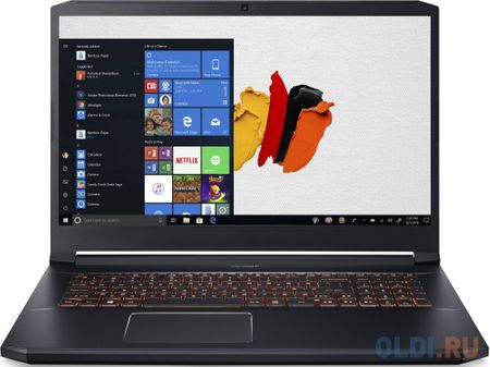 "Ноутбук Acer ConceptD 5 Pro CN517-71P-71HD Core i7 9750H/16Gb/SSD1Tb/NVIDIA Quadro RTX 3000 6Gb/17.3""/IPS/UHD (3840x2160)/Windows 10 Professional/black/WiFi/BT/Cam/3815mAh"